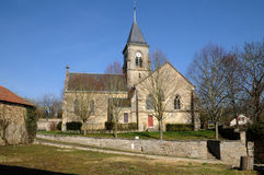 Church of Fremainville in Val d Oise Stock Photos