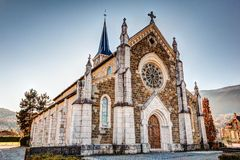 Church in French Alps, Saint-Jorioz Royalty Free Stock Photos