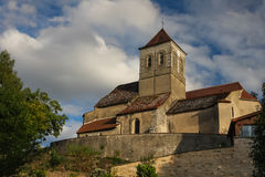 Church in french countryside. Some small church in french countryside residing on the hill Stock Photo