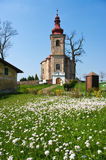Church and fresh meadow Royalty Free Stock Images