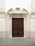 Church front entrance in Slovenia Stock Image