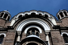 Church Front View. Church in the center of Sofia city, Bulgaria Royalty Free Stock Photo