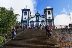 Church of Funchal. Our Lady of the Mountain - Igreja Nossa Senhora do Monte, Funchal, Madeira, Portugal Stock Image