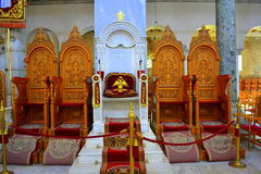 Church furniture  Bishop's throne Royalty Free Stock Photography