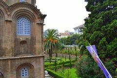 Church garden Thessaloniki downtown Stock Photography