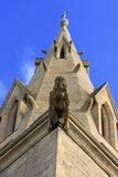 Church Gargoyle. Stone gargoyle on the side of a church in England Royalty Free Stock Images