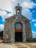 Church of Gastelugache island on coast of Bay of Biscay Stock Photo