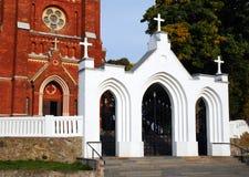 Church Gate. Entrance gate to the Catholic Church, travel Lithuania, Kelme city Royalty Free Stock Photography