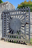 Church Gate with a Cross Stock Image