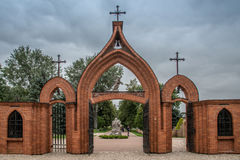 Church gate in Kernave. City, Lithuania Royalty Free Stock Images