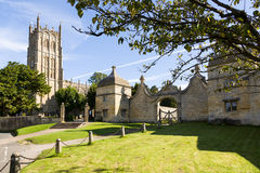 Church and gateway in Chipping Campden Stock Images