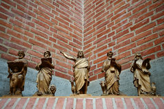 Church in Gentofte. Statues in a Church in Gentofte royalty free stock image