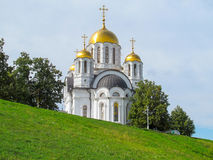 Church of Georges the Victorious in Samara. Church in honor of Georges the Victorious on the hill over Volga  river in Samara Royalty Free Stock Photo