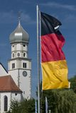 Church and German Flag Stock Photos