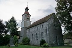 Church in Germany. In Bavaria Markt Erlabach St Leonhard Linden chapel royalty free stock photo