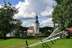 Church in Germany. Near Fulda at mountain Milseburg in Rhön royalty free stock photos