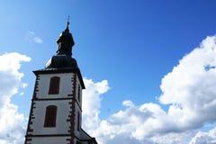 Church in Germany. Near Fulda at mountain Milseburg in Rhön stock image