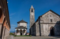 Church of Gervasio and Protasio at Baveno, on Lake maggiore, Pie stock images