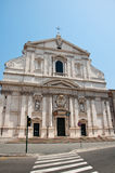 The Church of the Gesù in Rome, Italy. Stock Images