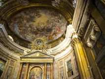 The Church of the Gesù is located in the Piazza del Gesù in Rome. Royalty Free Stock Image