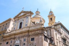 The Church of the Gesu at daylight royalty free stock images
