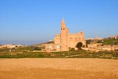Church in Gharb; Gozo, Malta. Ta' Pinu Church in willage Gharb, Gozo island, Malta Royalty Free Stock Images