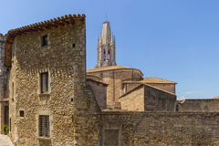 Church in Girona. In Spain royalty free stock image