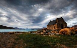 Church by a glacier lake Royalty Free Stock Photos