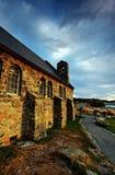 Church by a glacier lake Stock Image