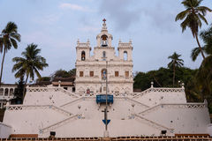 Church in GOA. Our Lady of the Immaculate Conception Church, Goa royalty free stock photos