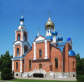 The Church with gold and blue domes Stock Photography