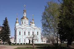 Church with gold domes Royalty Free Stock Photos