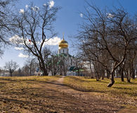 Church with golden cupola Royalty Free Stock Images