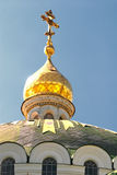 Church golden dome Royalty Free Stock Photography