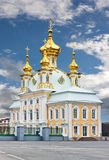 Church with golden domes Stock Image