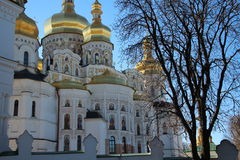 Church with golden domes Royalty Free Stock Images