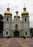 Church with golden roof. In Ukraine royalty free stock image