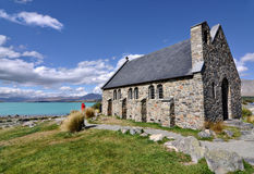 Church of the Good Sheperd, Lake Tekapo Royalty Free Stock Images