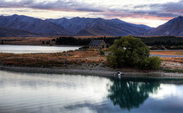 Church of the Good Sheperd, Lake Tekapo Stock Images
