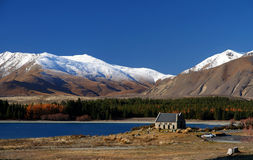 Church Of Good Shepherd. Lake Tekapo New Zealand Royalty Free Stock Photo