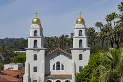 Church of the Good Shepherd at Beverly Hills. Aerial view of the Church of the Good Shepherd at Beverly Hills, Los Angeles, California Stock Photo