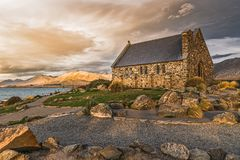 Old church in New Zealand stock image
