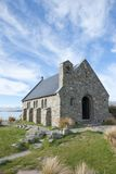 Acient church at lake front. Church of the Good Shepherd, Lake Tekapo, New Zealand Royalty Free Stock Photos