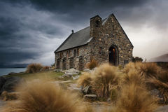 Church of Good Shepherd, Lake Tekapo Stock Photo