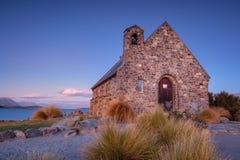 The Church of the Good Shepherd at Lake Tekapo in New Zealand Stock Photos