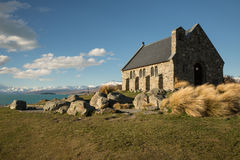 Church of the Good Shepherd & Lake Tekapo Stock Photos