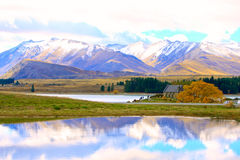 Church of the Good Shepherd at Lake Tekapo. royalty free stock image