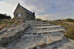Church of the Good Shepherd. Near lake Tekapo in New Zealand stock images