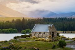 Church of the Good Shepherd, New Zealand royalty free stock photography