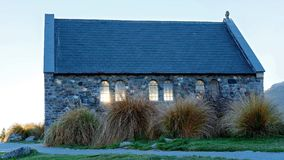 The Church Of The Good Shepherd New Zealand. The famous Church Of The Good Shepherd At Lake Tekapo, New Zealand late afternoon in autumn stock photo